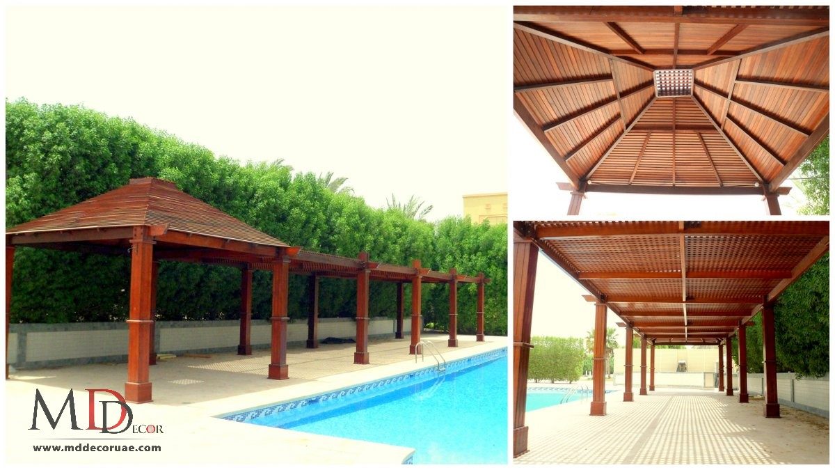 wooden pergola company in uae