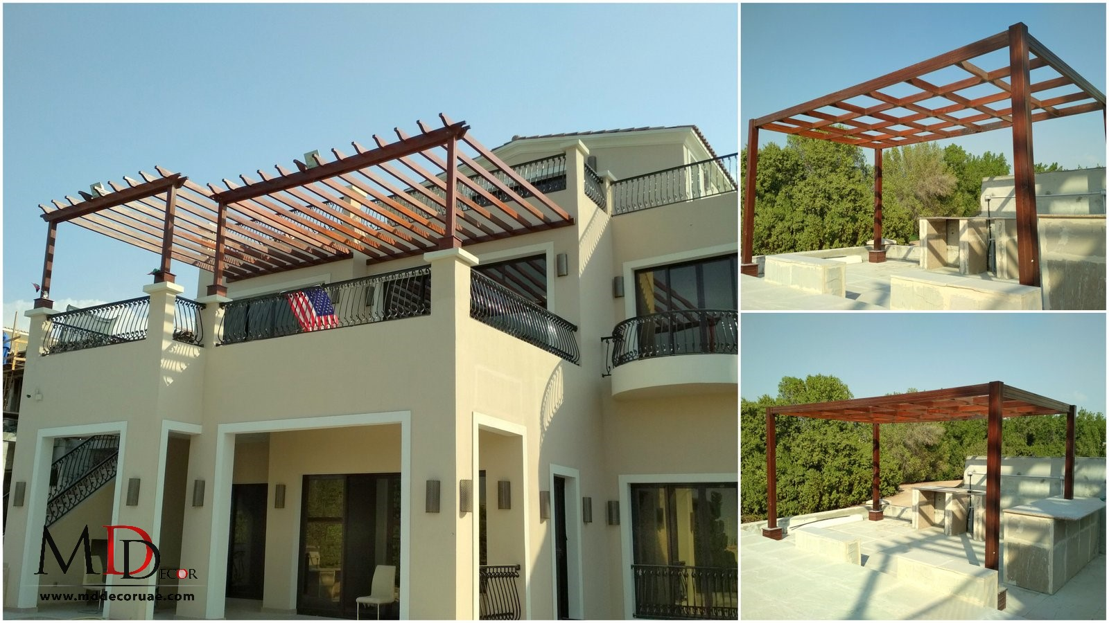 Wooden Pergola roof in uae