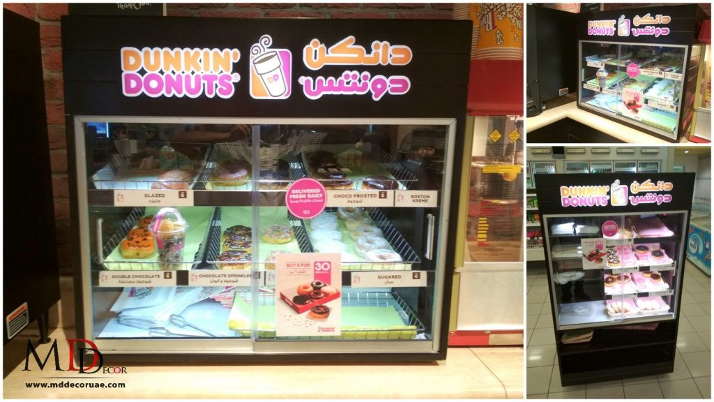 Dunkin Donut Display Stand in uae